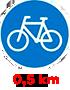 0,5 km