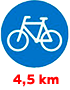 4,5 km