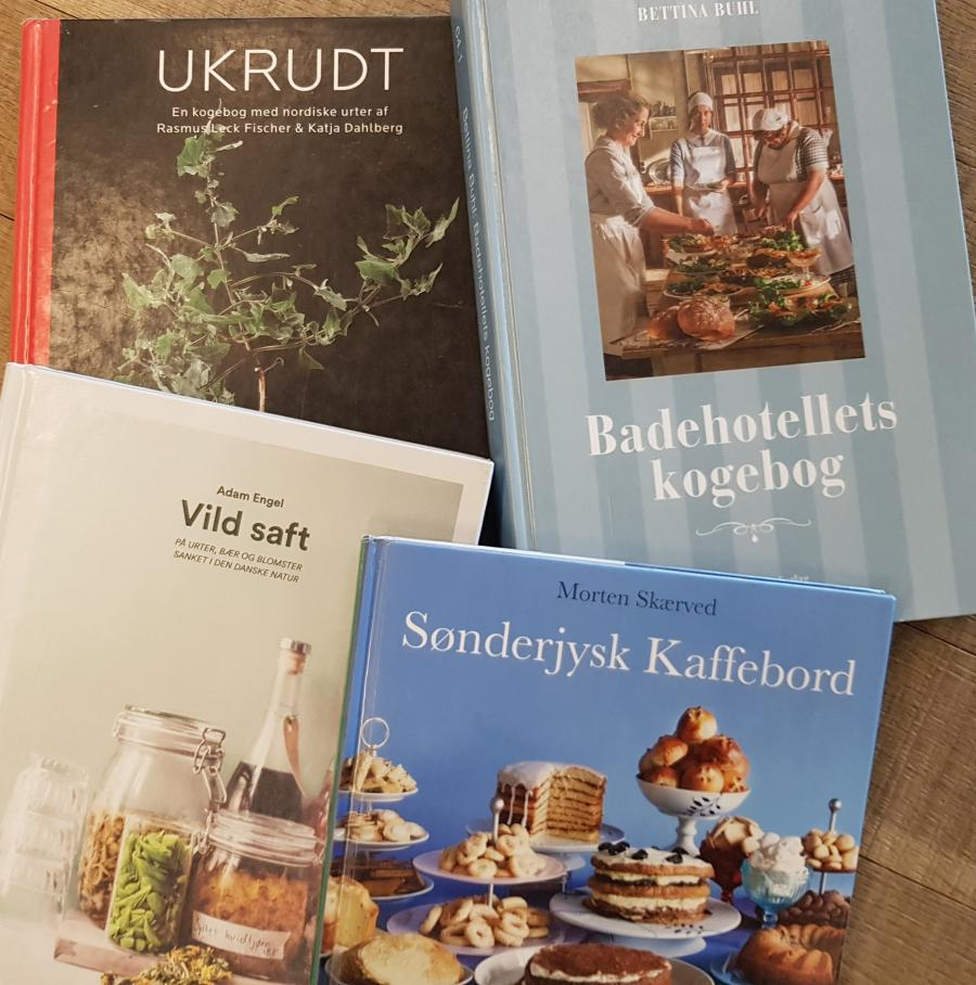 Foto af bøger om mad