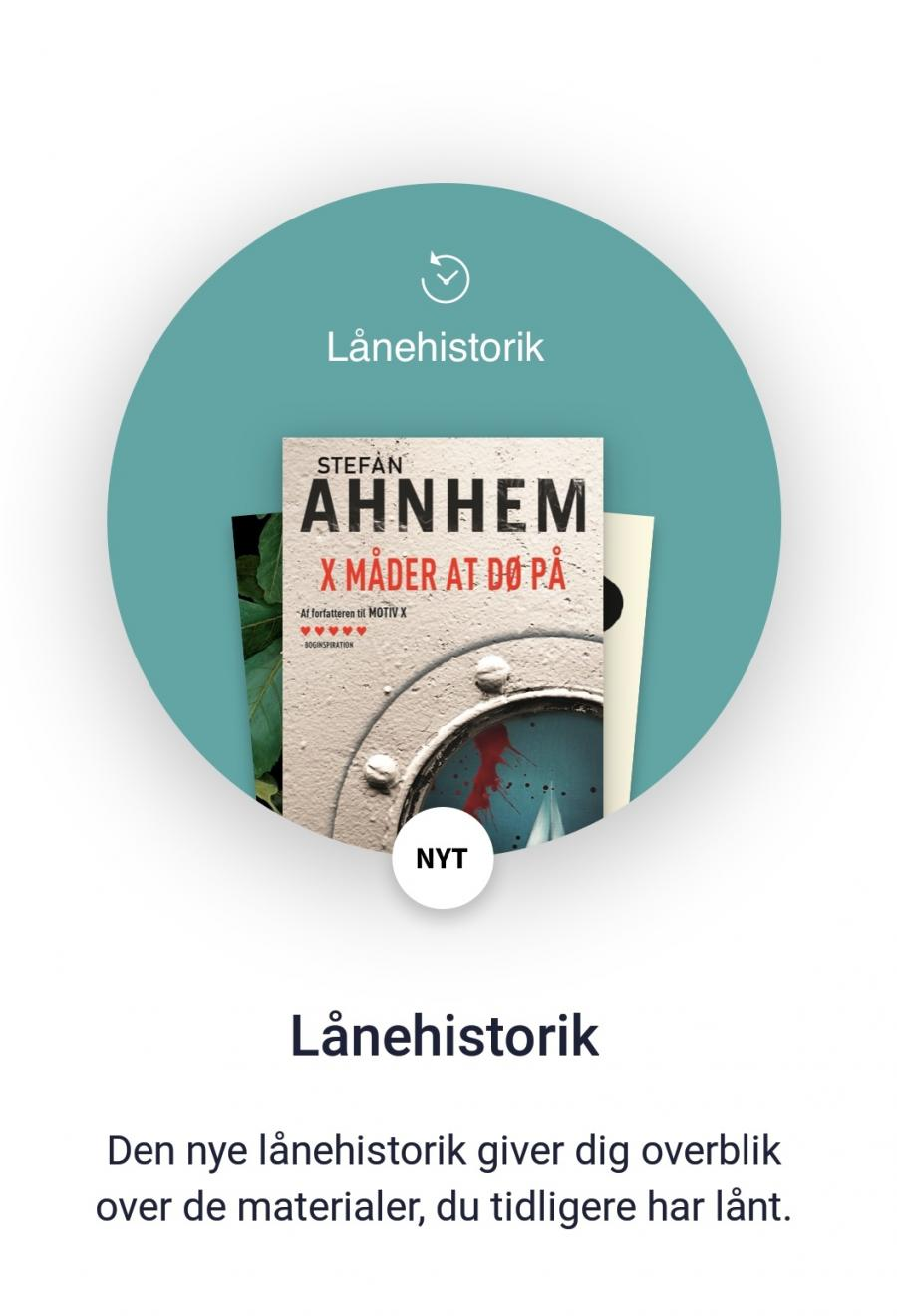 Side fra appen