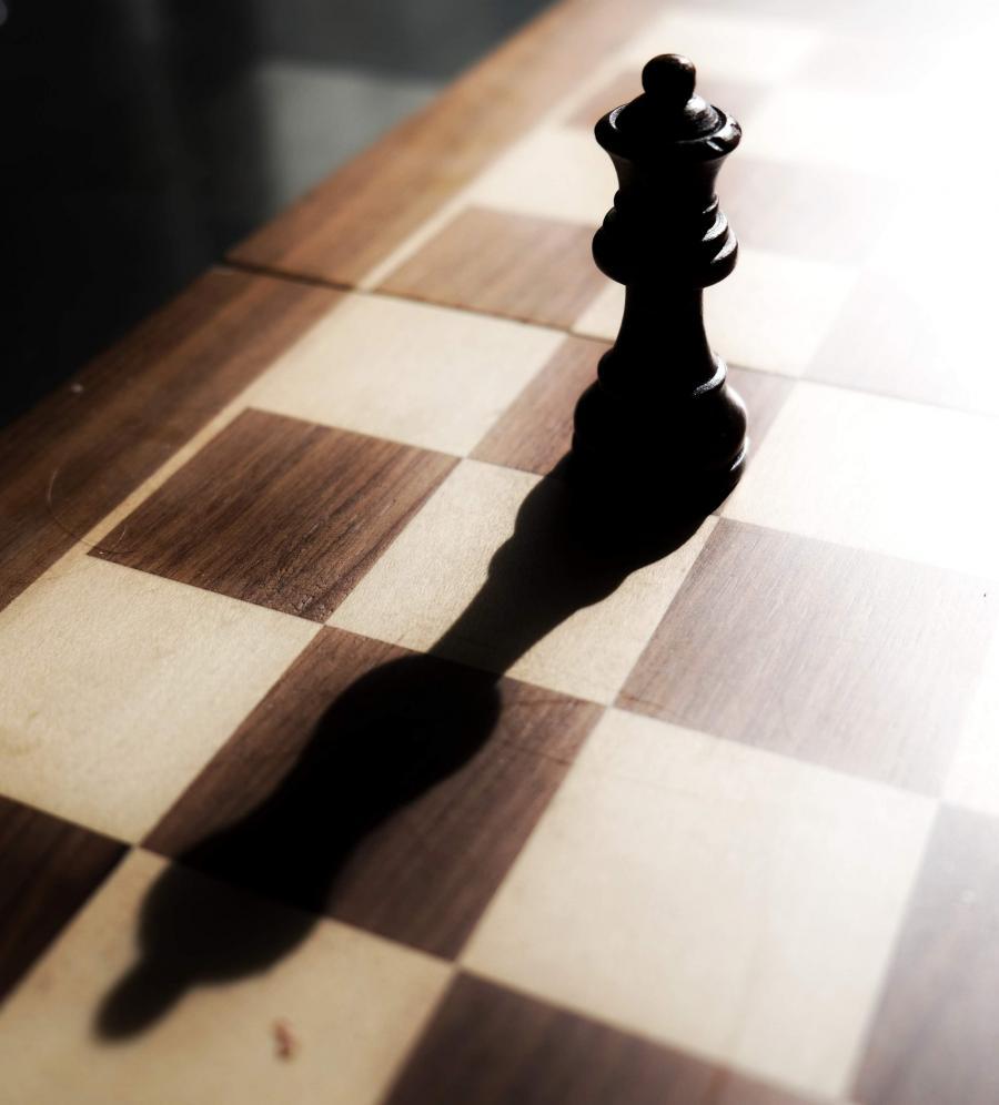 Foto af en skakdronning