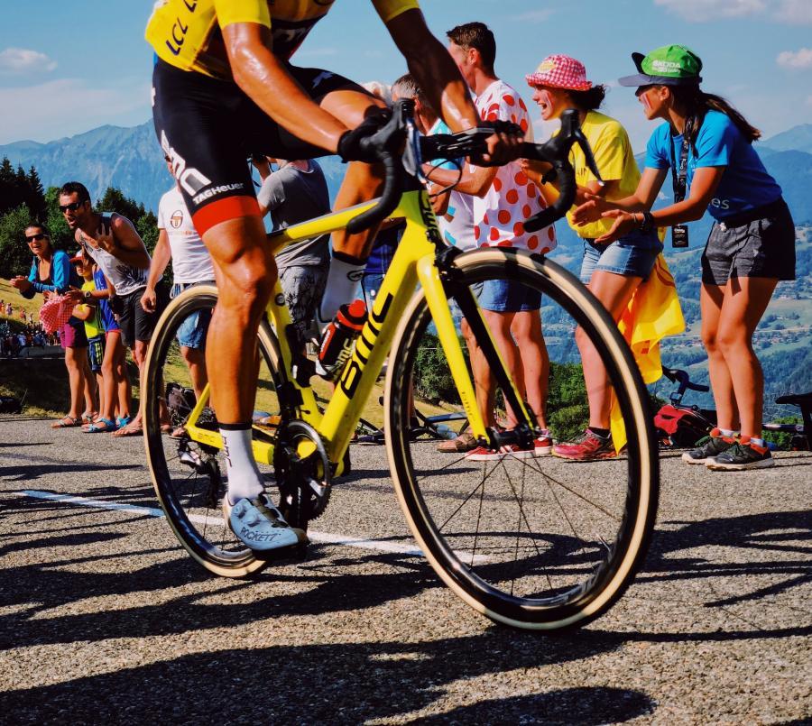 Foto af ryttere fra Tour de France