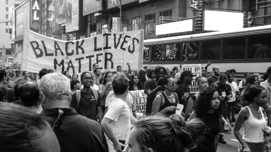 Foto fra Black Lives Matter-demonstration. Foto: Unsplash