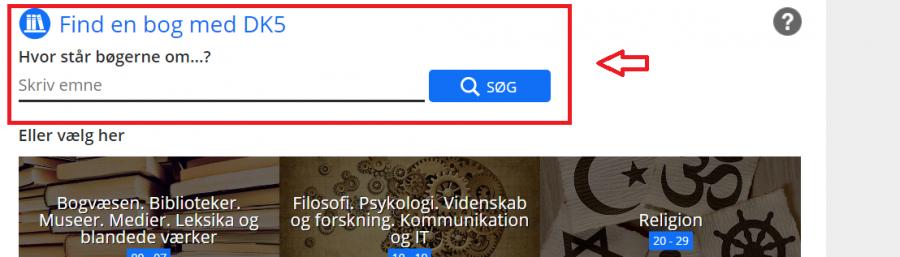 Dk5 systemets søgeboks