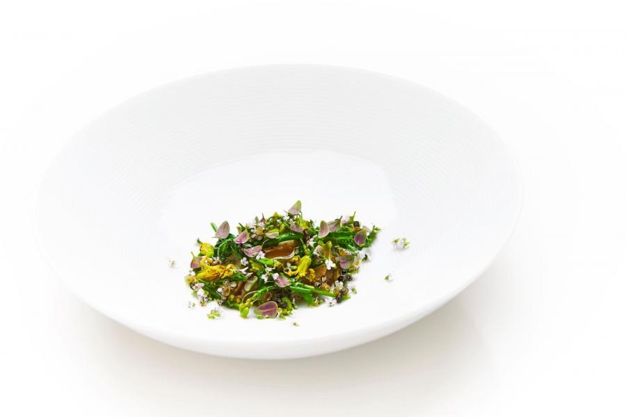 Foto af en tallerken fra Restaurant Geranium