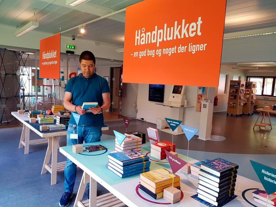 Foto af HÅNDPLUKKET-bøgerne