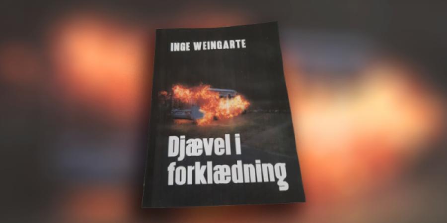 Forside til en bog med Bengt Langer, Djævel i forklædning, skrevet af Inge Weingarte