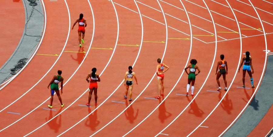 Foto fra et atletikløb.