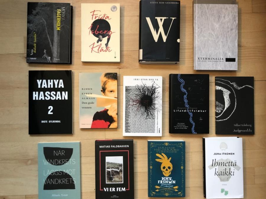 Foto af forsiderne af bøgerne