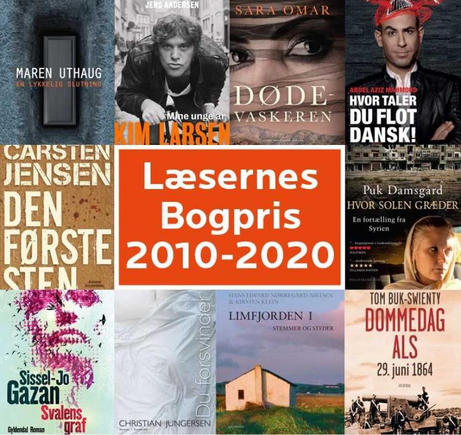 Her finder du de seneste ti års vindere af Læsernes Bogpris.