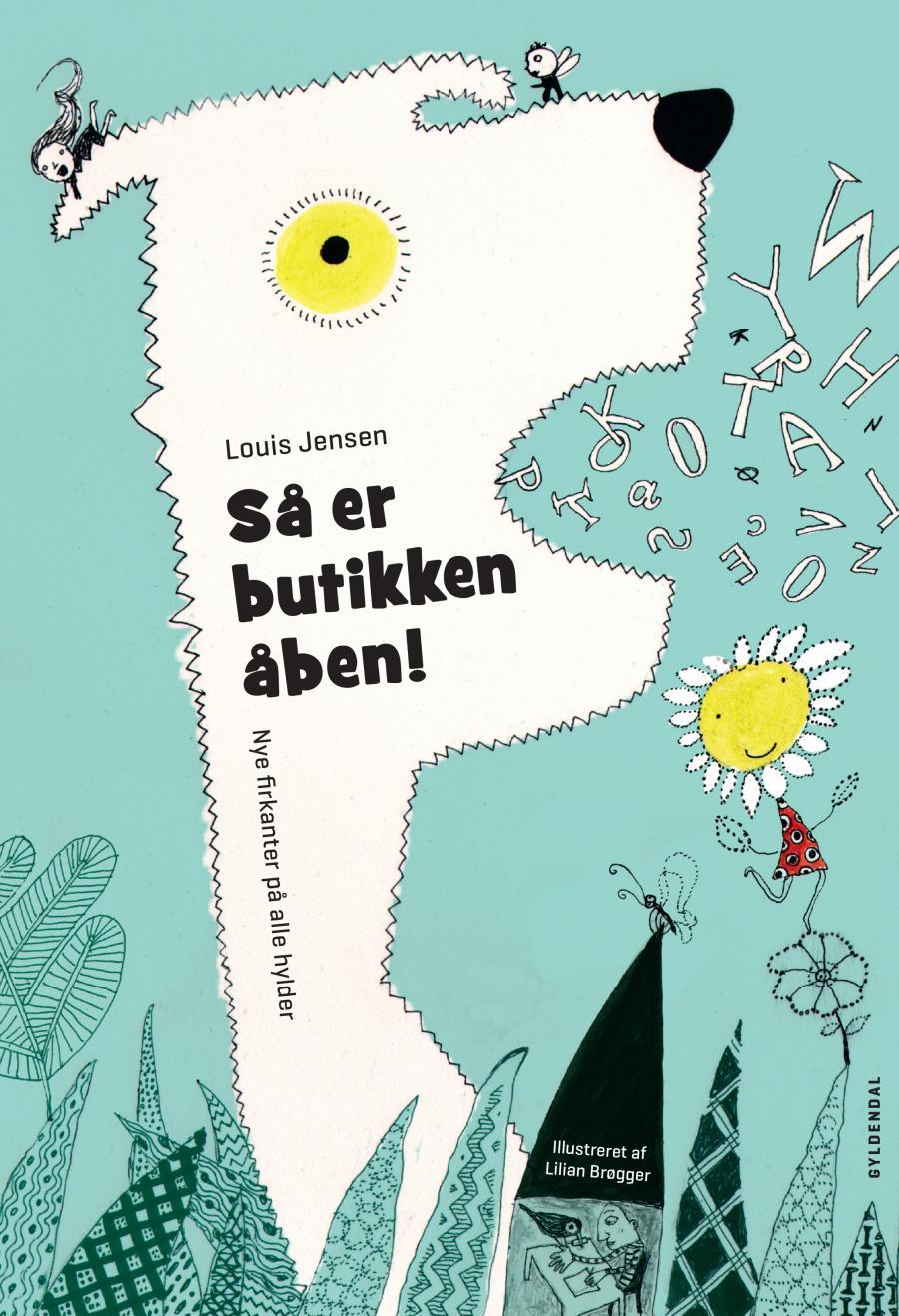 Forsiden af bogen 'Så er butikken åben' af Louis Jensens
