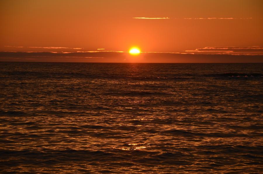 Foto af en solopgang